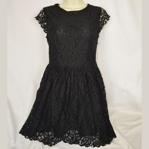 H&M Divided Black Lace Dress 4